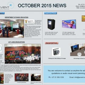 Newsletter - Oct 2015